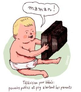 télévision bébé écrans téléphone ordinateur enfants