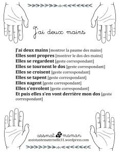 Jeux de doigts : J'ai deux mains