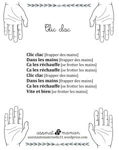 Jeux de doigts : Clic clac